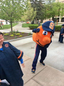 Otto the Orange with inclusive U students