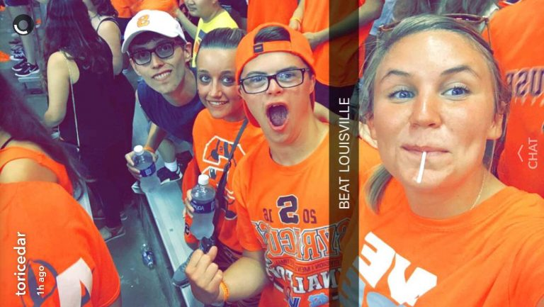 Tori, Bob, Megan and Harry at SU game