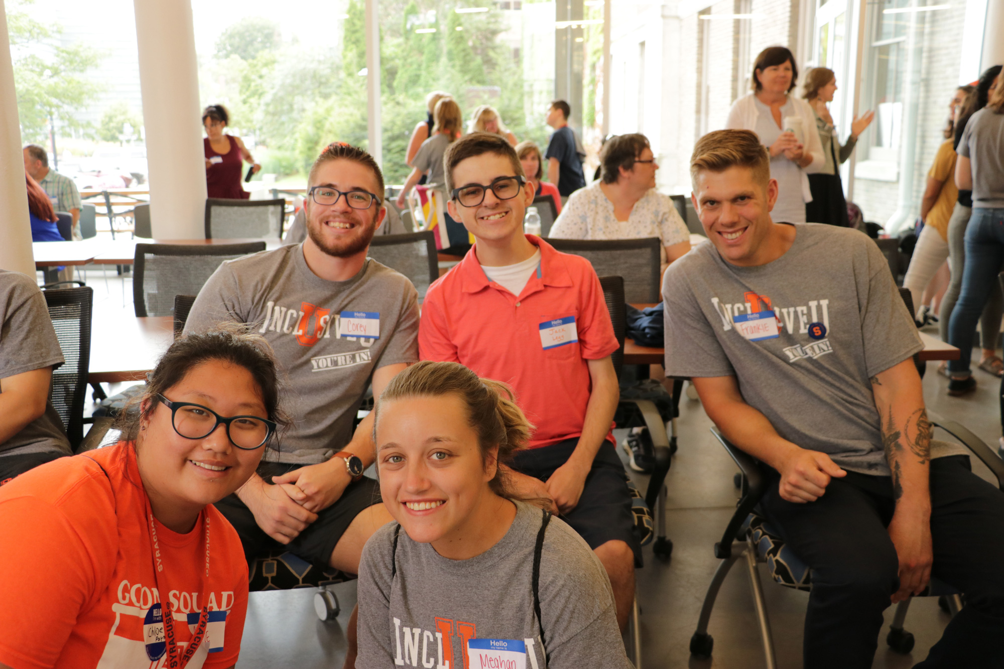 InclusiveU students at welcome