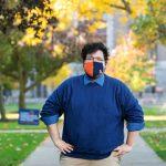 Camelo-Bonilla poses on campus