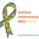 """Autism Awareness Day Illustration that reads """"Autism Awareness Day 4.2.21"""""""