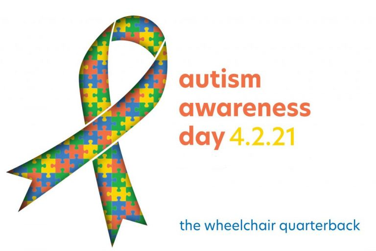 "Autism Awareness Day Illustration that reads ""Autism Awareness Day 4.2.21"""